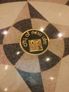 New Ulm seal in City Hall floor